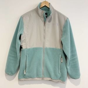 The North Face Denali Jacket Teal and Grey